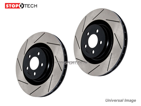 Brake Discs - Rear - Stoptech - Grooved - 310mm Vented - Lexus IS220D, IS250 GSE20