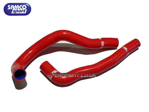 Samco Radiator Hose Set - Red - Supra JZA80 With VVTi