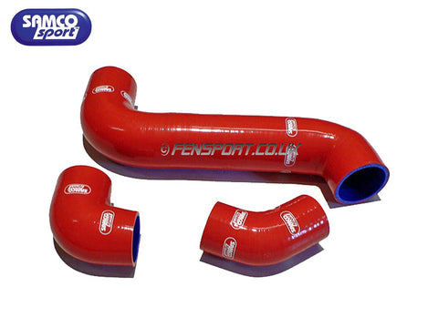 Red Samco Intercooler Hose Set for Starlet Turbo EP82