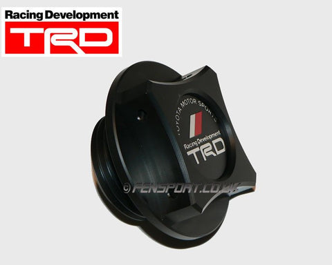 TRD Black Resin Fillar Cap - Screw Type