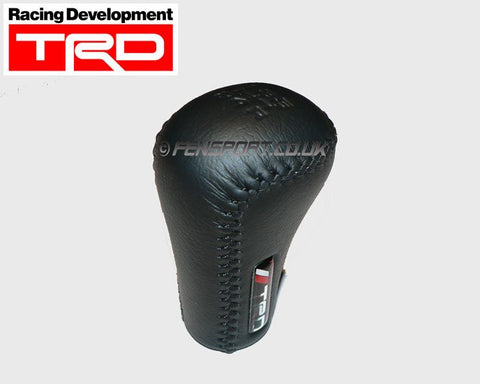 TRD Gearknob - Genuine Black Leather - Manual