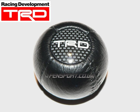 TRD Gearknob - Round Shape - Leather Look