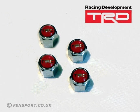 TRD Valve Cap Kit - Red
