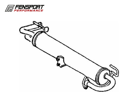 Rear Exhaust Silencer - MR2 MK1 AW11