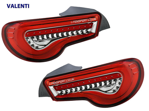 Valenti - LED Rear Tail Lights - Red Clear - GT86 & BRZ