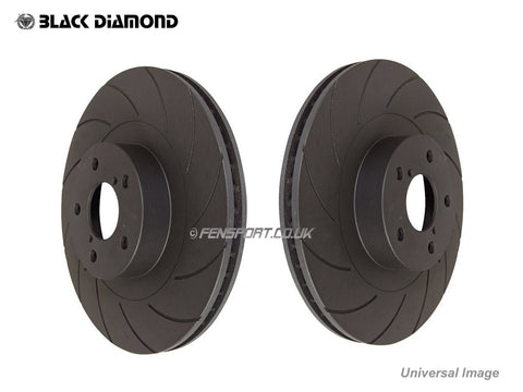 Brake Discs - Front -  12 Groove  - 296mm - Lexus IS200D, IS220D, IS250, IS300h