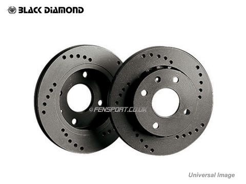 Brake Discs - Rear - Cross Drilled - MR2-2E 14 inch