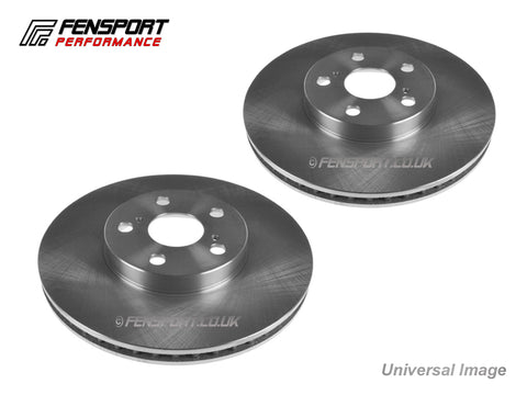 Brake Discs - Front - Standard - 258mm - Yaris 1.3SR & 1.3 Sport  NSP130 French Built