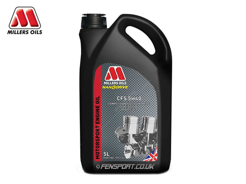 Millers - Fully Synthetic Engine Oil - CFS 5w40 - 5 Litre