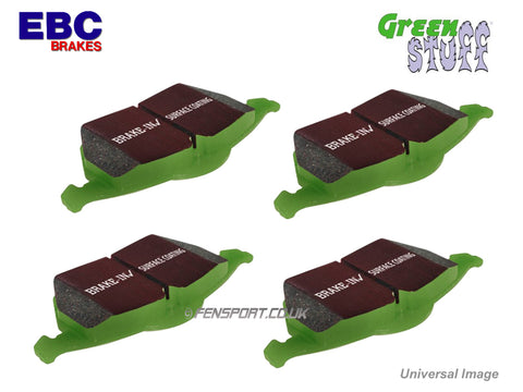 Brake Pads - Rear - EBC Greenstuff - iQ, CT200h, Yaris 1.8 Sport (Japan)