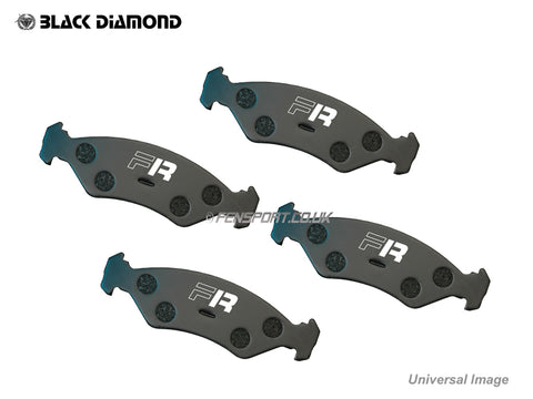 Brake Pads - Rear - Black Diamond Predator - iQ, Yaris 1.8 Sport, CT200h