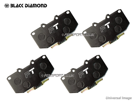 Brake Pads - Front - Black Diamond Predator -Toyota iQ 1.0 & 1.3