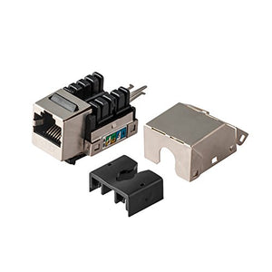 CAT6 Snap-in Shielded Keystone Jack, MACTISICAL RJ45 Cat 6 Ethernet Module Thunder-Proof in-Line Couplers