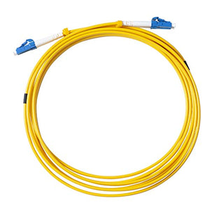 OS1 LC to LC Fiber Patch Cable,5 Meter 2 Pack VANDESAIL Singlemode 9/125um Fiber Optic Cable Duplex (5M,16.4ft)