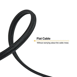 VANDESAIL 2-Pack CAT7 LAN Network Cable (1m/ 3ft)