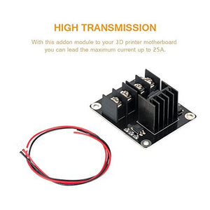 Heat Bed Mosfet, MACTISICAL 2 Pack 3D Printer Heat Bed Power Module 3D Printer Board Expansion Board MOS Tube High Current Load Module