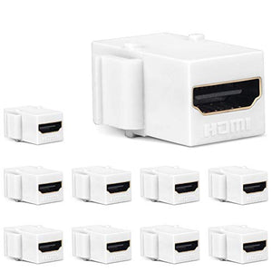 HDMI Keystone Jack, MOERISICAL 10 Pack HDMI Keystone Insert Female to Female Coupler Adapter