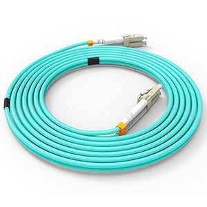 Fiber Patch Cable, VANDESAIL 10G Gigabit Fiber Optic Cables with LC to LC Multimode OM3 Duplex 50/125 OFNP (2M, OM3-10Pack)