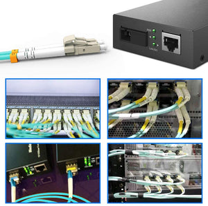 Fiber Patch Cable, VANDESAIL 10G Gigabit Fiber Optic Cables with LC to LC Multimode OM3 Duplex 50/125 OFNP 5Pack