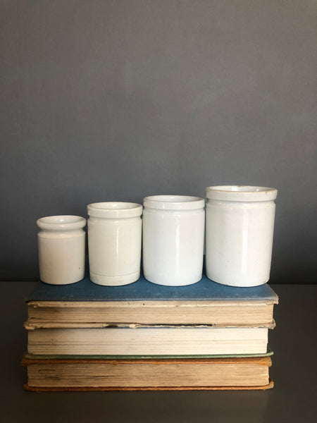 Set of vintage apothecary measuring jars