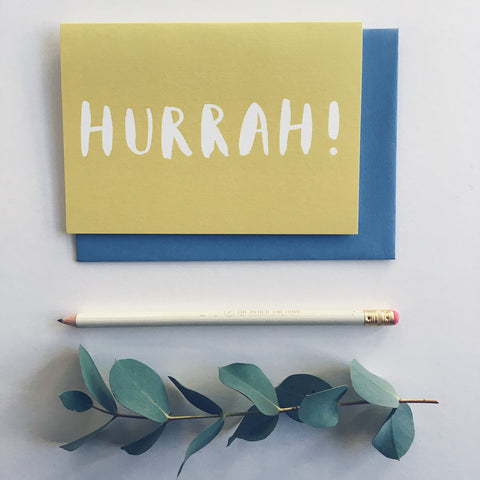 'Hurrah' Greeting Card