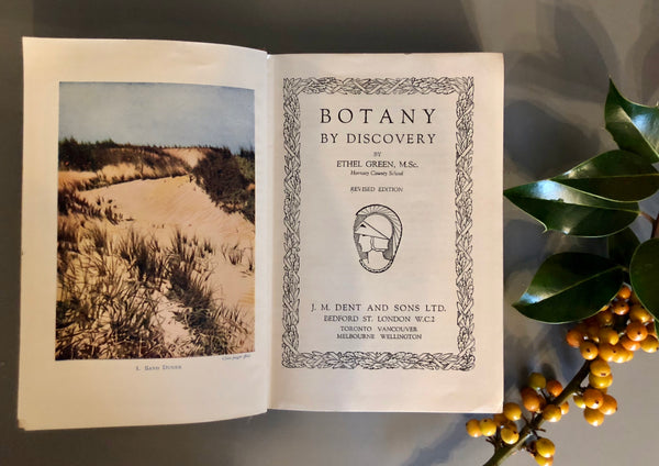 Vintage 'Botany' Book, by Ethel Green