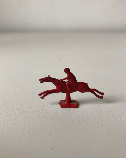 Vintage Red Racehorse