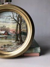 Load image into Gallery viewer, Vintage Oil Painting in Circular Frame