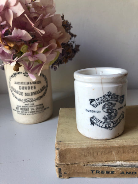 J Sainsburys Vintage Pot Candle, Jasmine & Pomegranate