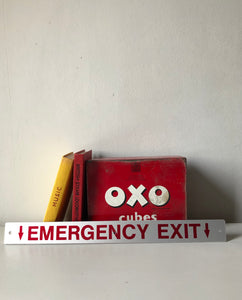 Vintage 'Emergency Exit' sign