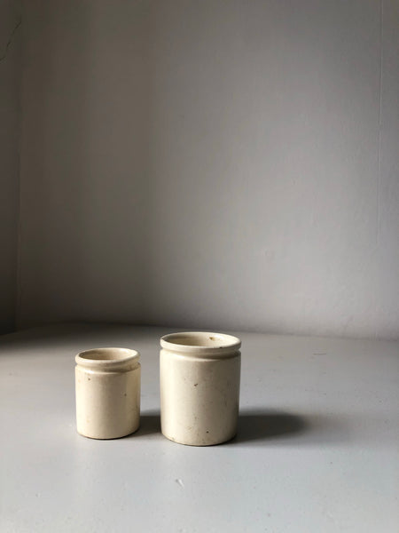 Pair of Stoneware ink pots