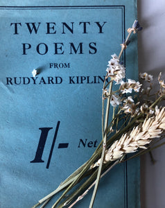 Antique Rudyard Kipling Poetry Book