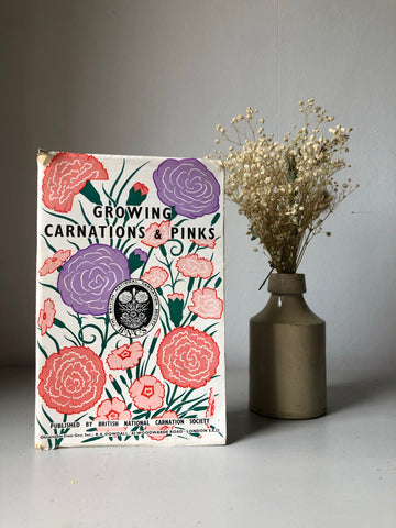 Vintage Gardening Paperback, Growing Carnations