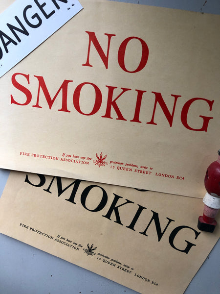 Vintage 'NO SMOKING' Poster