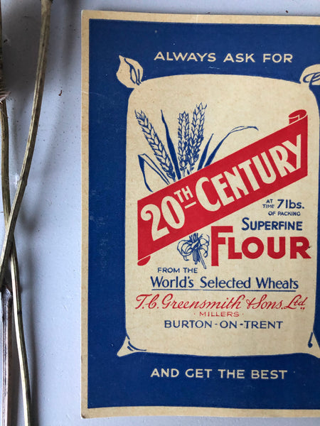Old Shop Advertising Card, 20th Century Flour
