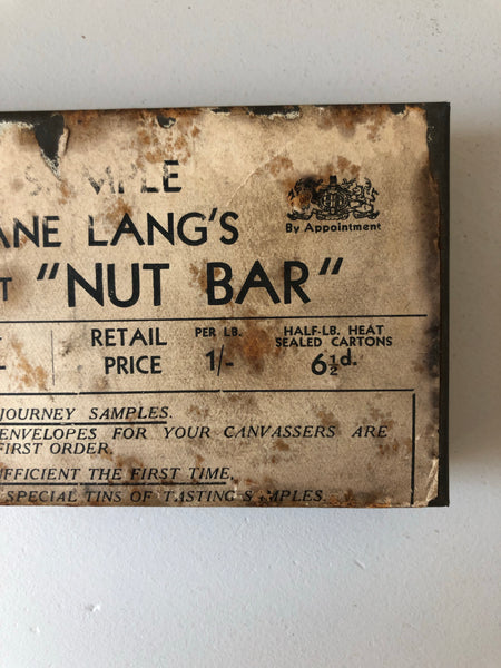 Vintage 'Nut Bar' Tin
