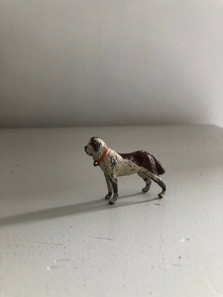 Vintage Lead St Bernard Dog