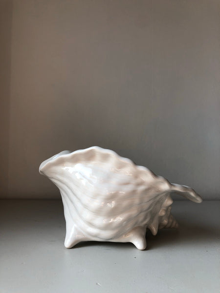 Ceramic Conch Shell Planter Vase