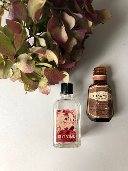 French Antique Mini Hair Tonic bottle