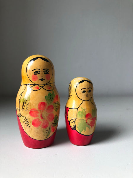 Set of Two Vintage Russian Dolls