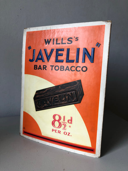 Vintage Tobacco Shop Display Card