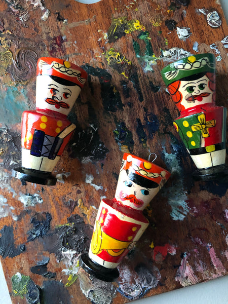 Boxed Vintage Hand Painted Nutcracker Tree Decorations