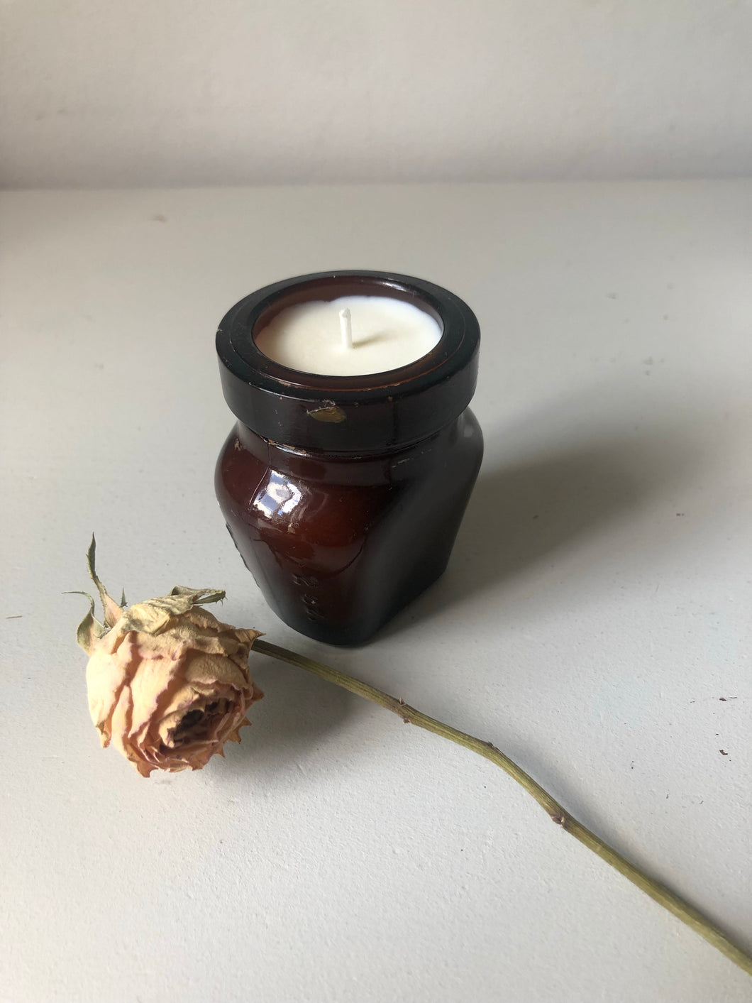 Vintage Oxo Jar Candle, Mint and Fig