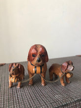Load image into Gallery viewer, Vintage wooden St Bernard Trio
