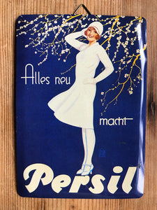 Vintage German Persil Sign