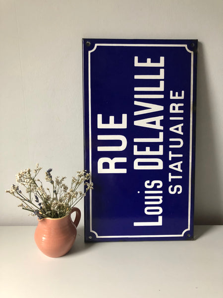 French Enamel Road sign