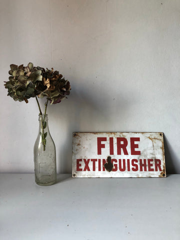 Old 'Fire Extinguisher' sign