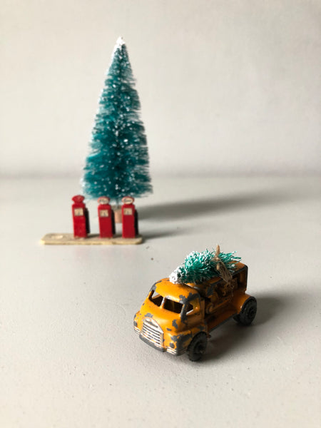 Home for Christmas - Vintage Orange Lorry