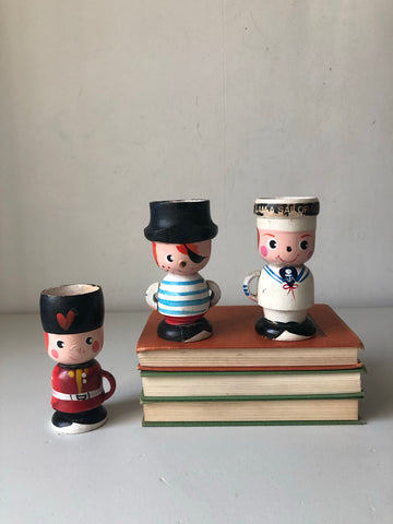 Vintage Wooden Eggcup character