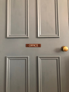 Vintage Bakelite 'Office' Door Sign